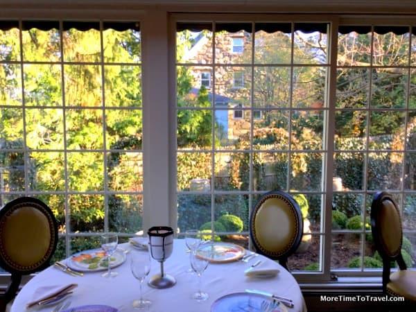 Dining room at Homestead Inn