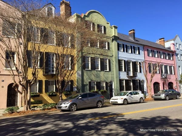 Rainbow Row in downtown Charleston
