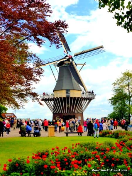 Windmill at Keukenhof Gardens