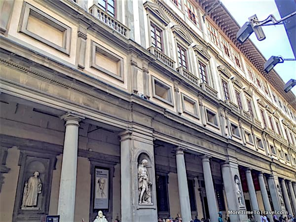 Exterior of the Uffizi Gallery