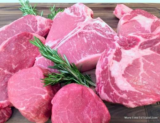 Display of different cuts of Certified Angus Beef