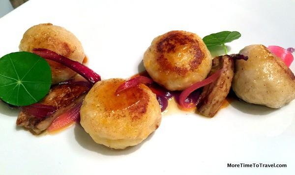Foie gras stuffed gnocchi
