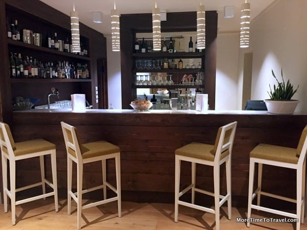 Intimate hotel bar at La Tabaccia