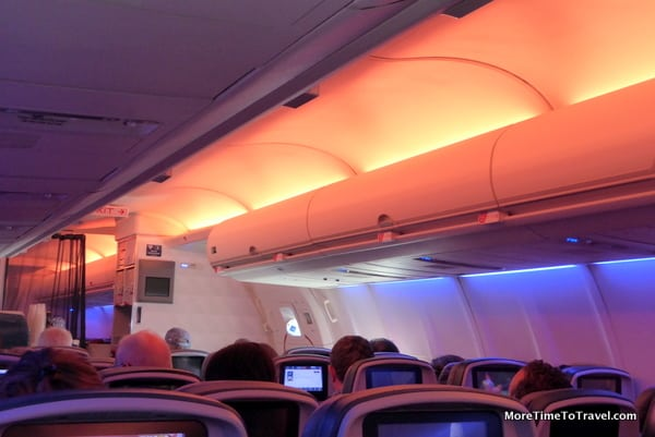 View of our Delta Economy Comfort+ cabin
