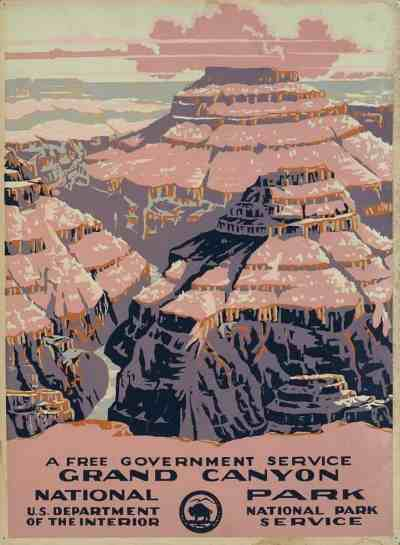 1938 vintage poster of Grand Canyon National Park (Library of Congress)