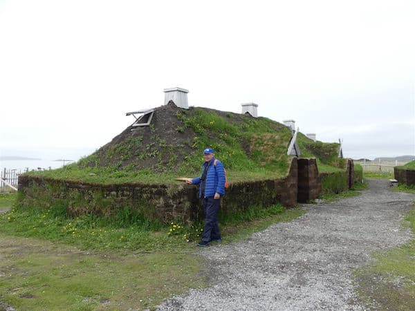 Sod hut at L'Anse aux Meadows