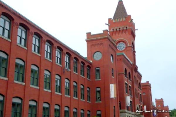 Brick facade of the American Optical Company