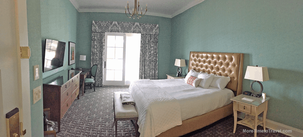 Wide view of our lakeside King room.