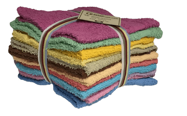 Stack of washcloths available from Amazon.com