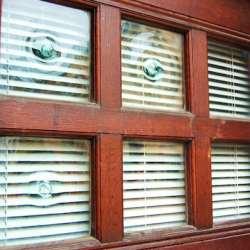 Detail of hand-blown window panes