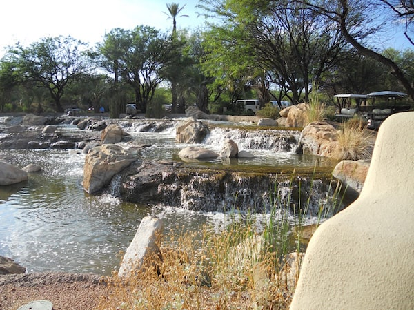 Relaxing waterfalls at Miraval