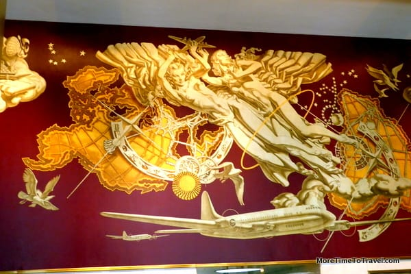 History of transportation mural by Dean Cornwell at 10 Rockefeller Plaza