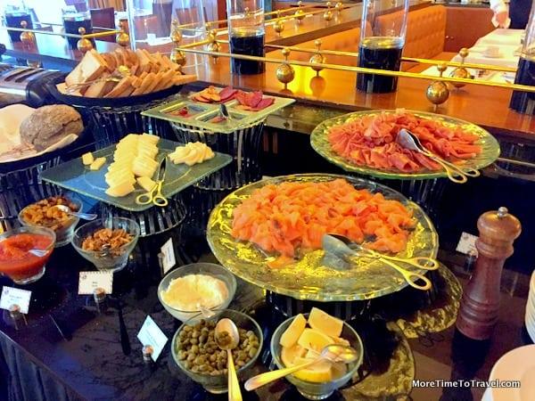 Buffet breakfast table