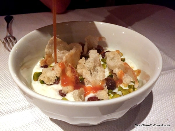 Not far behind: Riz au lait Coucou (rice pudding, pistachios, chartreuse)