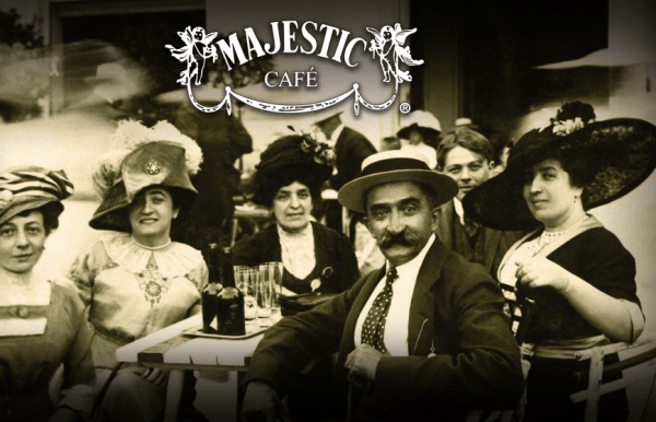 Vintage photo of the Majestic Cafe (screenshot)