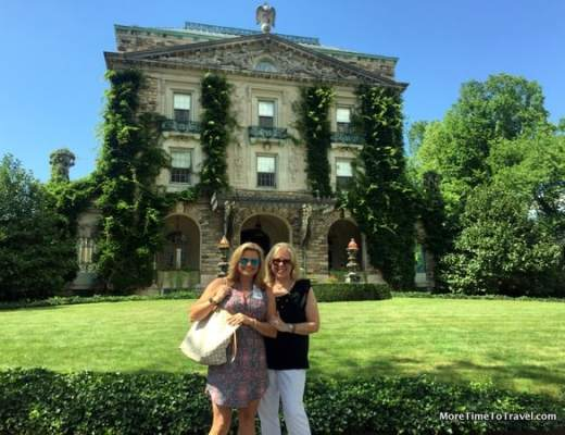 Suzanne Stavert and Irene S. Levine at Kykuit