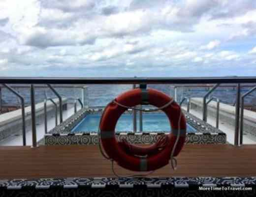 Perfect for the Over-50 traveler: View of the Atlantic from the Aquavit Lounge on the Viking Star