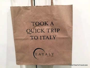 Logo shopping bag from Italy