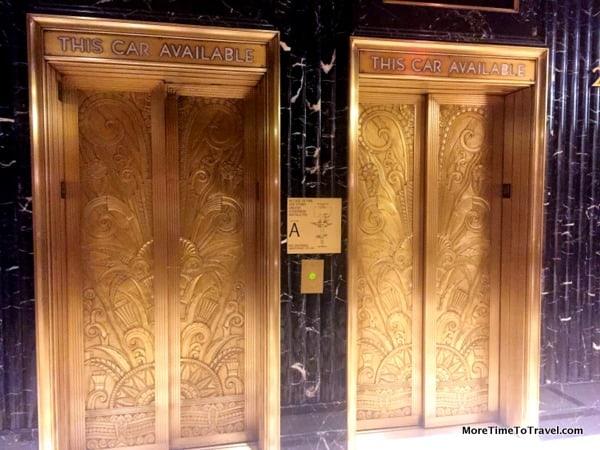 Art deco elevator doors