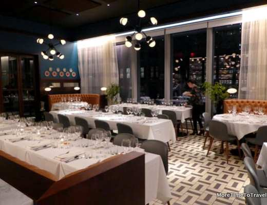 Fine dining room at Osteria della Pace, Eataly NYC Downtown