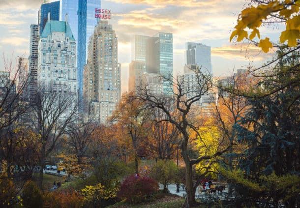 View of the hotel from Central Park (Photo credit: JW Marriott Essex House New York)
