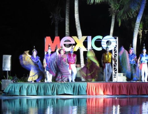 Mexico Night dancers at Secrets Capri