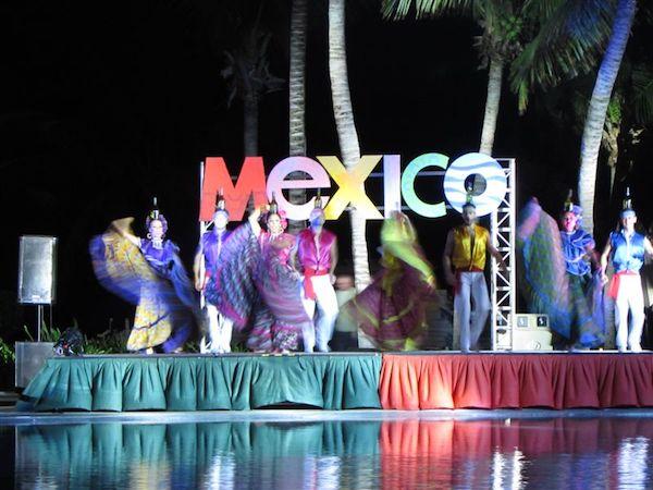 Mexico Night dancers at Secrets Capri