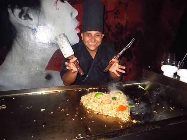 Teppanyaki Chef at Secrets Capri