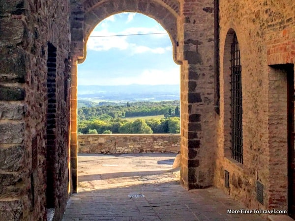 View of the countryside from one of the two portas in San Gusme