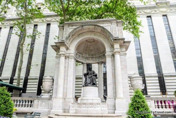 Statue of William Cullen Bryant in Bryant Park
