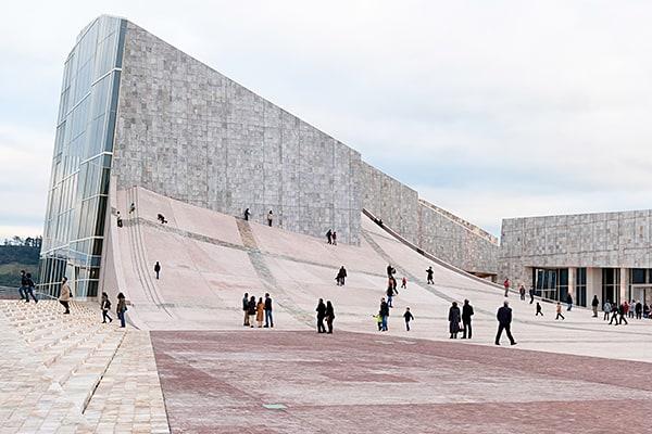 City of Culture, Santiago de Compostela, Spain (Credit: Photo by Manuel Vicent, Eisenman Architects)