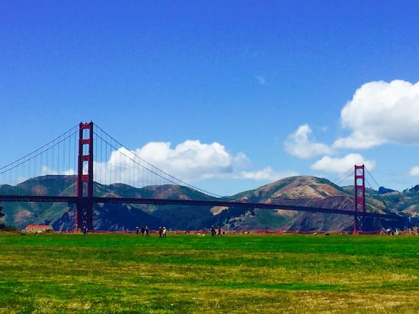 The Presidio, a former military fort by the Golden Gate Bridge, is now a national park and destination for tourists and locals (Credit: M. Ciavardini)