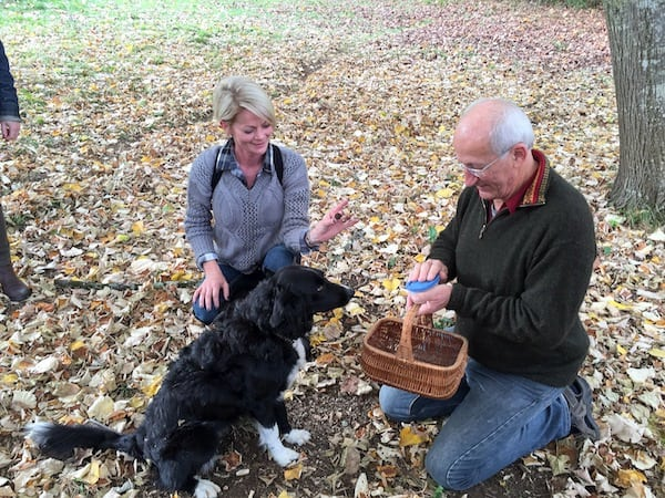 Truffle hunting in the Périgord region of France
