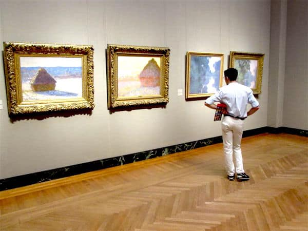 Eying Monet Masterpieces
