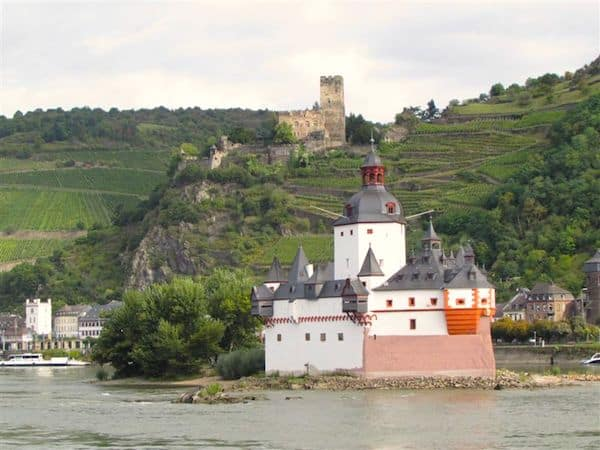 Castles and vineyards along the Rhine