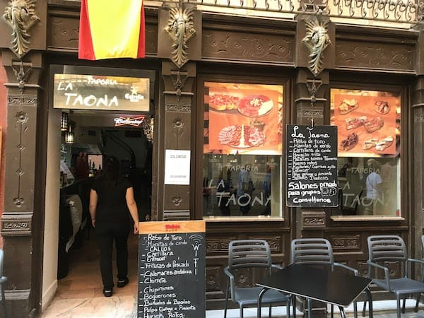 Tapas bar in Cartagena