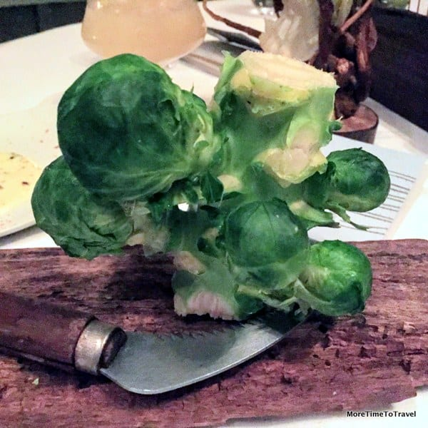 A brussel sprout tree to chop down and share