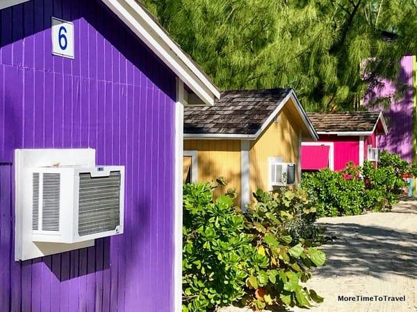 Colorful rental villas on Half Moon Cay