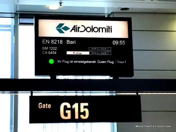 Air Dolomiti Ticket Counter at Gate 15, Munich Airport
