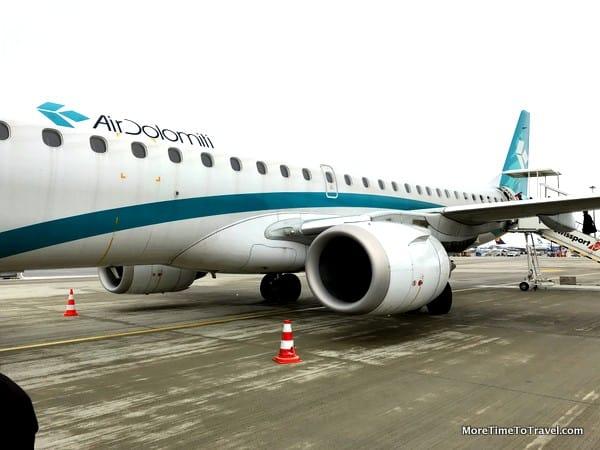 Air Dolomiti Embraer 195 at Munich Airport