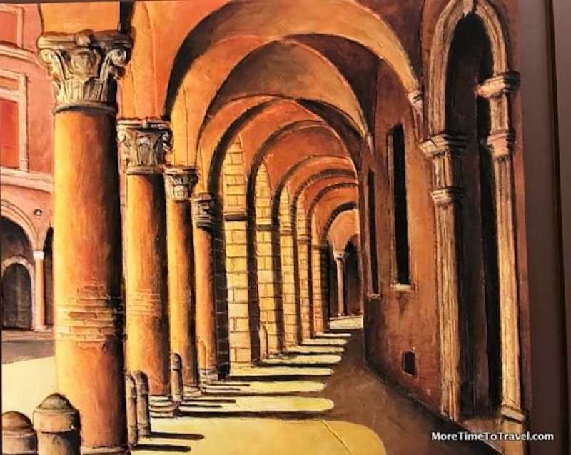 Portrait of Porticoes by Ivan Dimitrov at Hotel Commerciante, Bologna