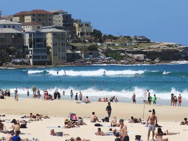 Plenty of surf at Bondi Beach