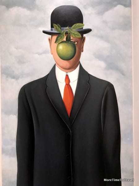 The Son of Man painting (Magritte) in the lobby of our apartment