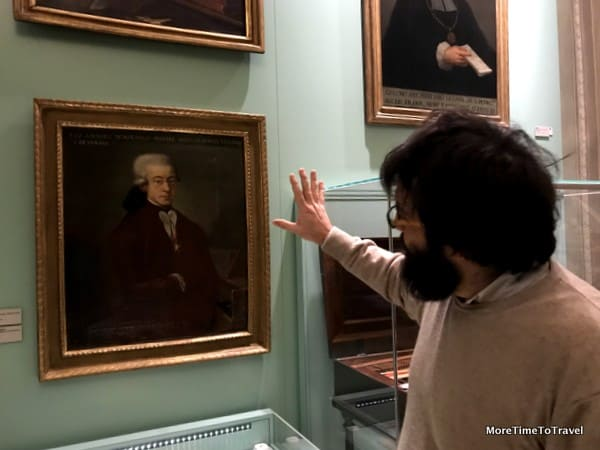 A tour of one of the portrait rooms at the Music Museum in Bologna
