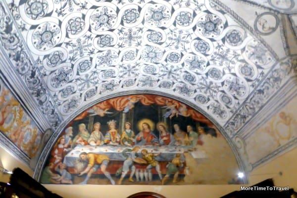Arabesque ceiling in the Basilica di Santa Catarina d'Allessandria in Galatina