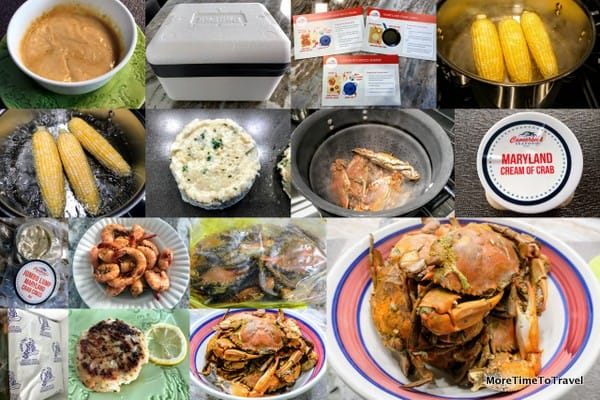 Collage of our seafood feast!