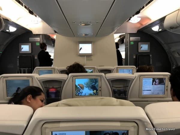 Interior of our Air France premium economy cabin