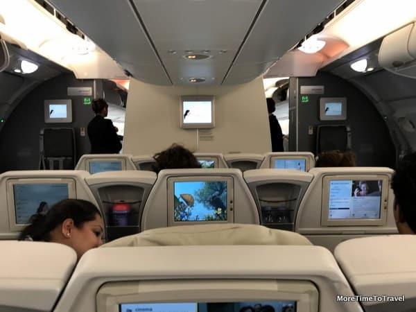 Interior of our Air France premium economy cabin