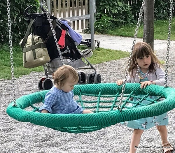 The Brau Garten is kid-friendly, too