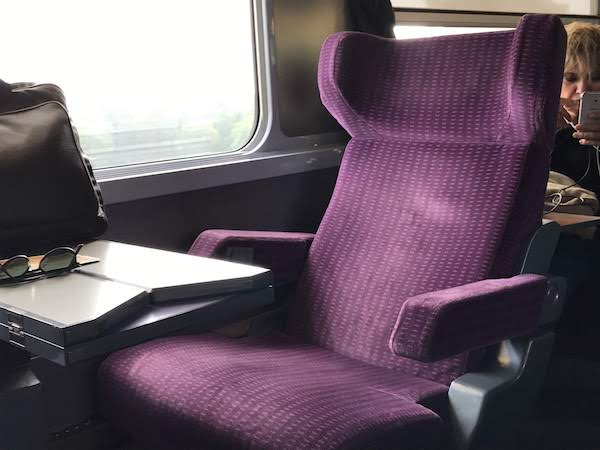 Seats on the fast train: Wish they had these on airplanes